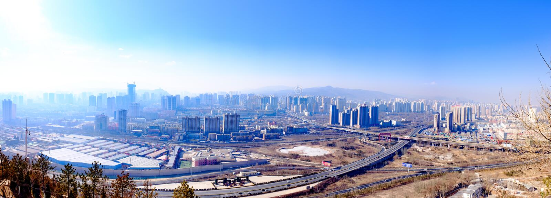 Overziend de Plateauparel - Qinghai, Xining royalty-vrije stock afbeelding