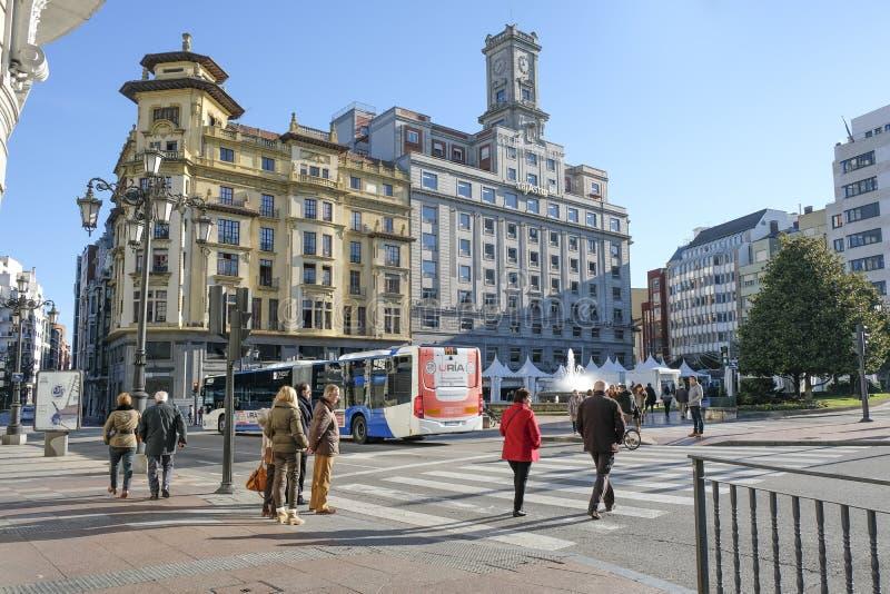 Oviedo, Asturien, Spanien stockfotografie