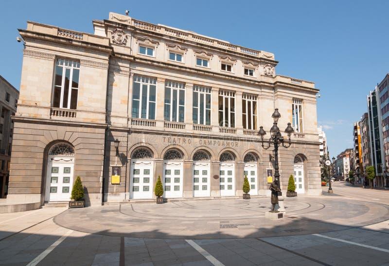 Oviedo, España - lunes 15 de agosto de 2016: Teatro de Campoamor imágenes de archivo libres de regalías