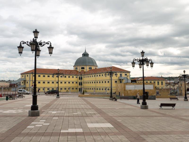OVIEDO HISZPANIA, PAŹDZIERNIK, - 28 2015: Budynek Dziejowi archiwa zdjęcia stock