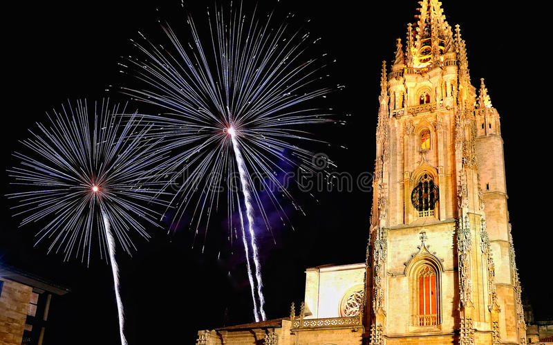 Oviedo Kathedraal stock fotografie