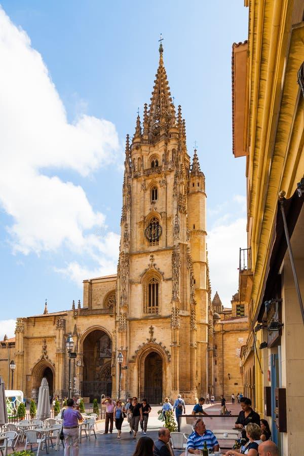 Oviedo Kathedraal royalty-vrije stock afbeeldingen