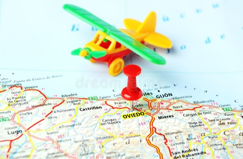 Oviedo Spain map airplane stock photo Image of tourism 47178130