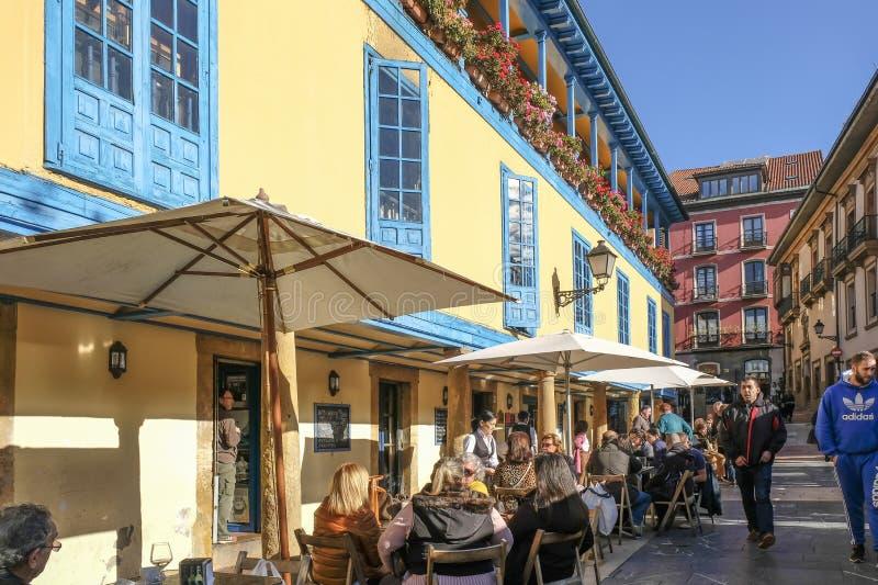 Oviedo, Spanien Dicember 2016 stockfoto