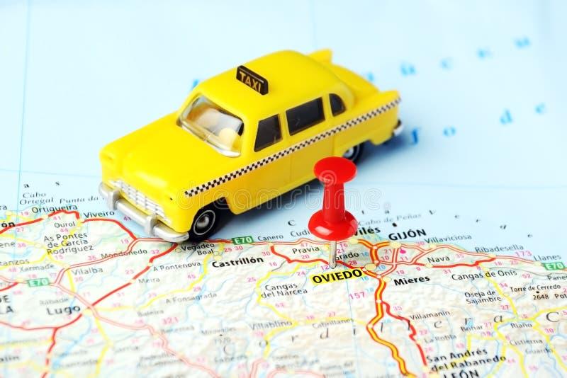 Oviedo, Spanje taxikaart stock fotografie