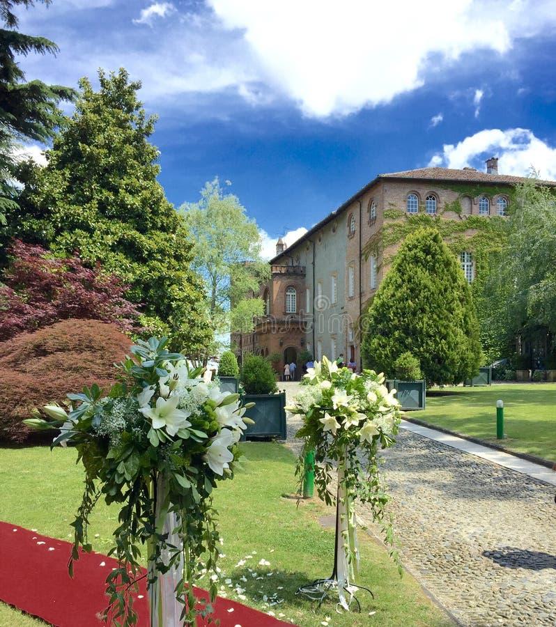 Oviglio-Schloss, Italien stockfoto