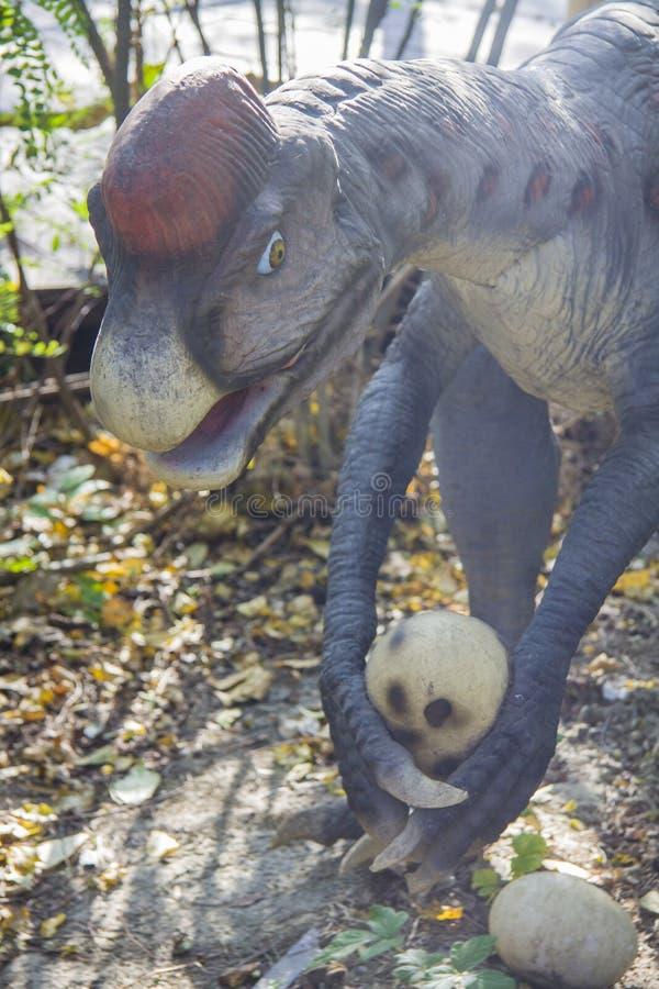 Oviraptor dinosaurie fotografering för bildbyråer