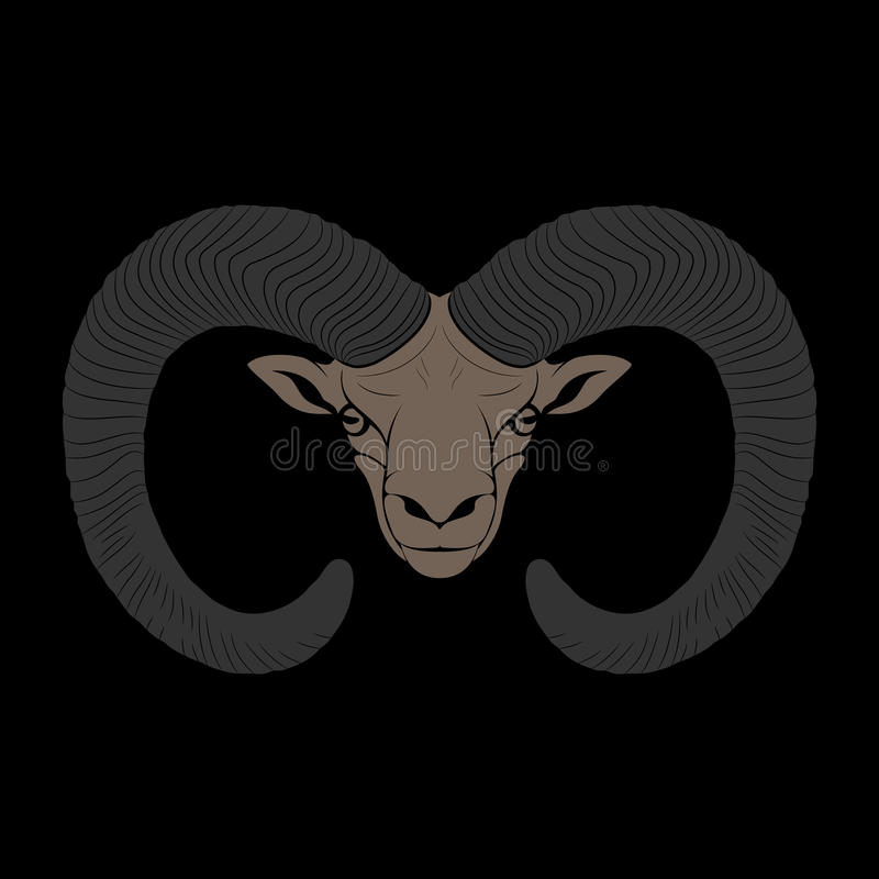 Download Ovis. Mouflon stock vector. Image of ovine, stylized - 32447755