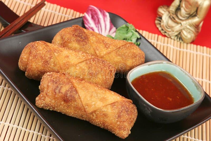 Ovo chinês friável Rolls imagem de stock