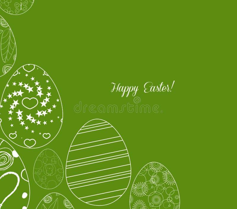 Download Ovo Da Páscoa Branco Abstrato No Fundo Verde Ilustração do Vetor - Ilustração de feriado, floral: 65580864
