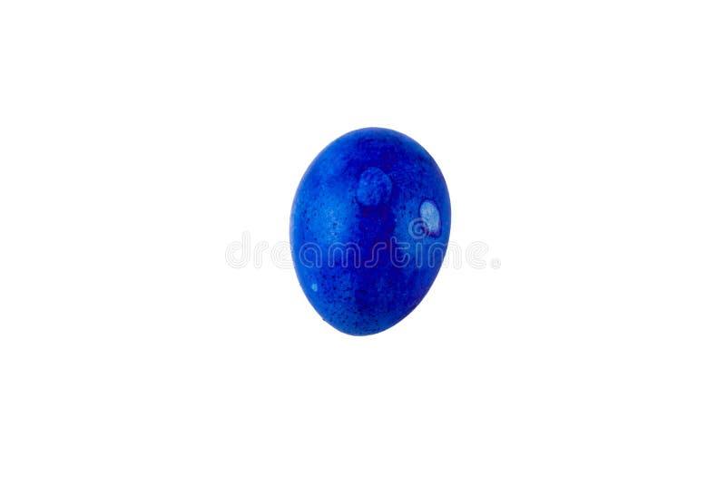 Ovo da páscoa feito a mão colorido isolado em um fundo branco fotos de stock
