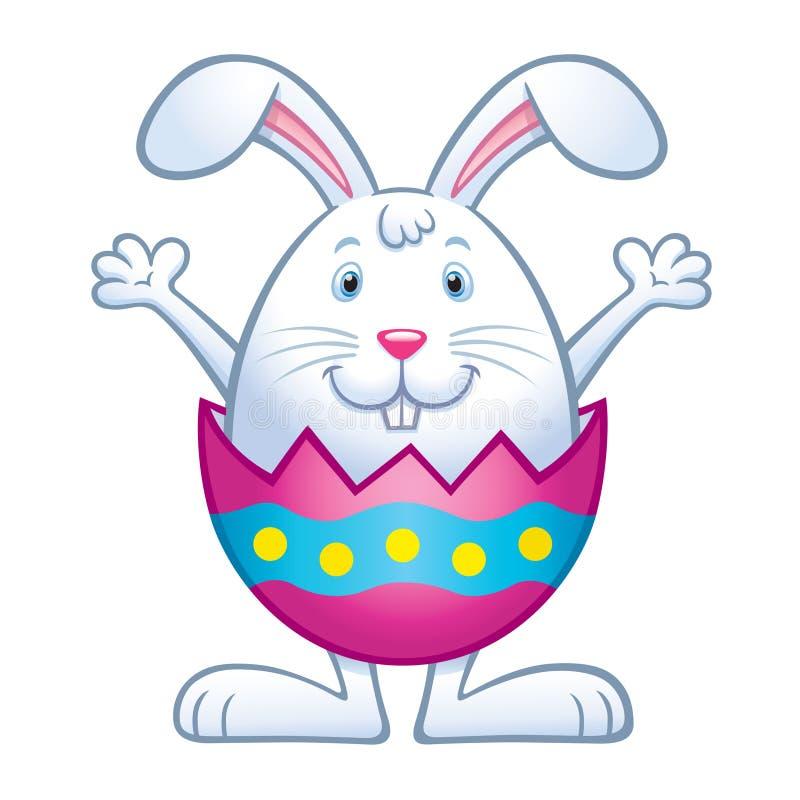 Ovo da páscoa Shell de Bunny In Cracked ilustração stock