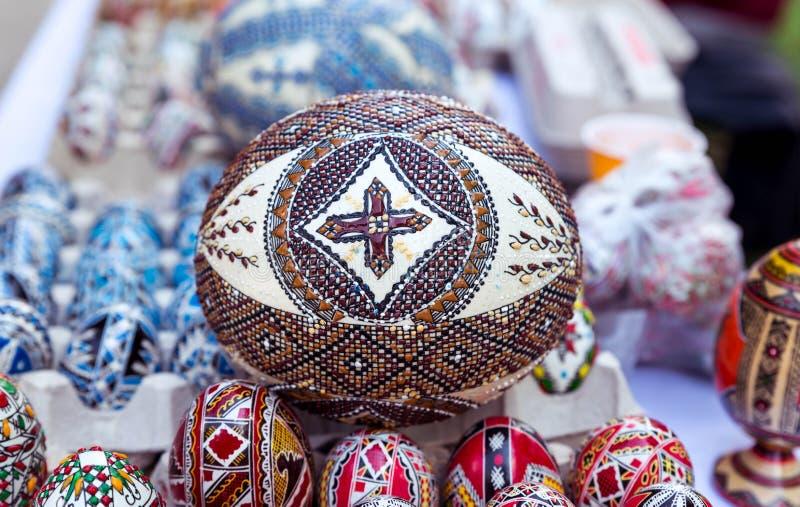 Ovo da páscoa tradicional, pintado à mão imagens de stock royalty free
