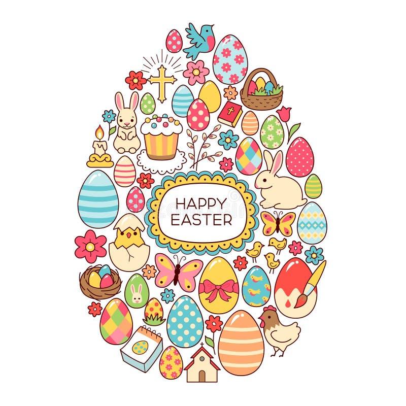 Ovo de Easter ilustração do vetor