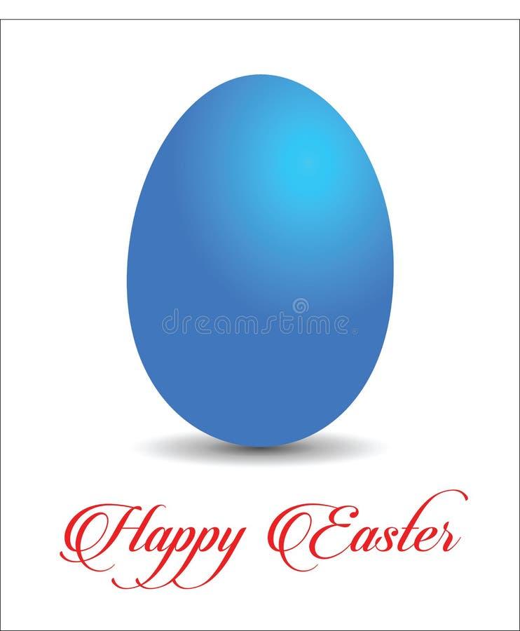 Ovo de Easter azul ilustração stock