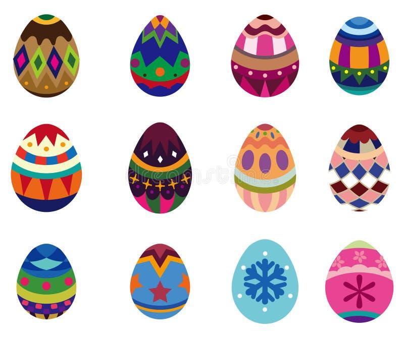 Ovo de Easter dos desenhos animados ilustração do vetor