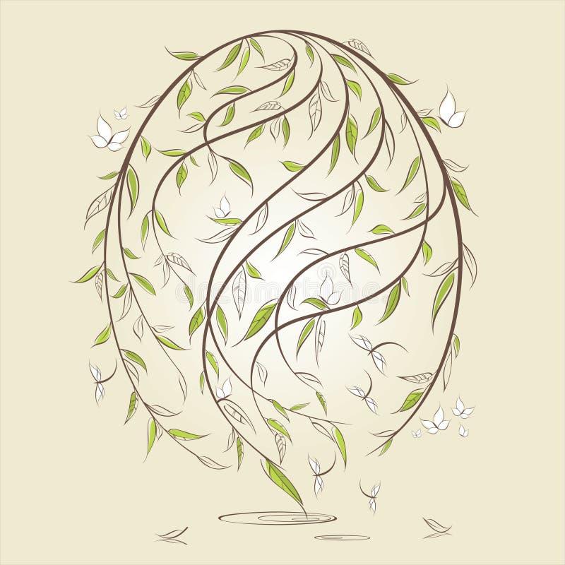 Ovo de easter estilizado ilustração do vetor