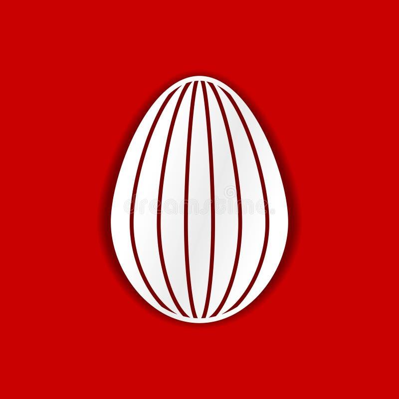 Ovo de Easter Molde para o corte do laser, a cinzeladura de madeira, o corte do papel e imprimir ilustração stock