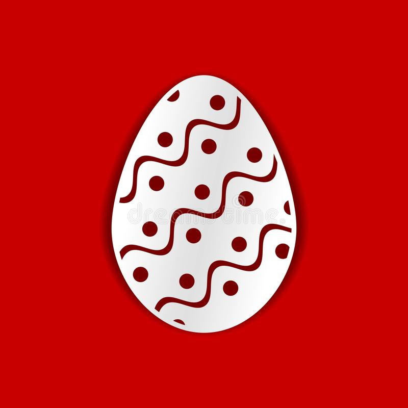 Ovo de Easter Molde para o corte do laser, a cinzeladura de madeira, o corte do papel e imprimir ilustração do vetor