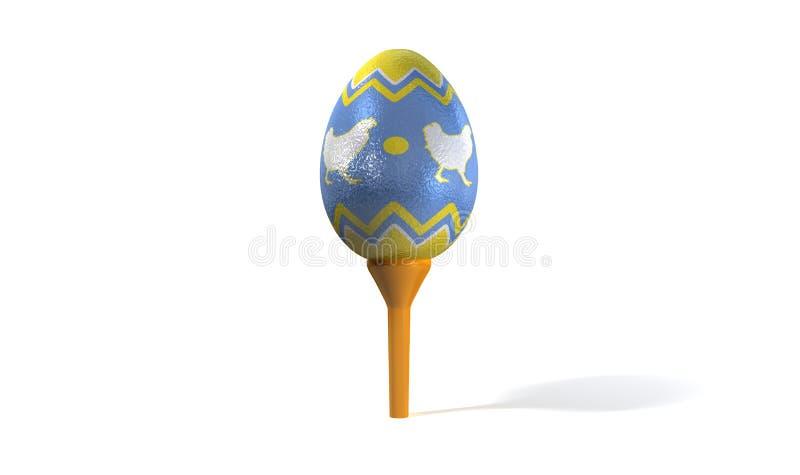 Ovo de Easter no T de golfe ilustração stock