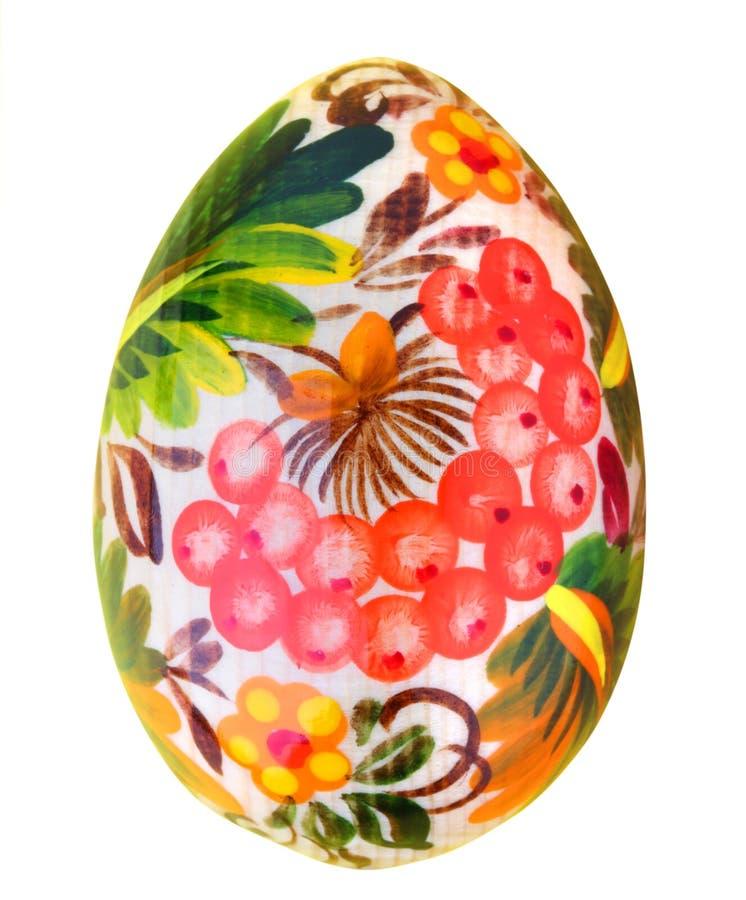 Ovo de easter pintado isolado no branco imagem de stock royalty free