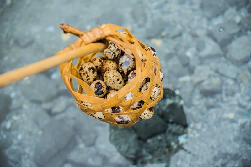 Ovo de fervura na associação mineral imagem de stock