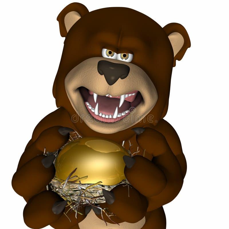 Ovo de ninho - mercado de urso ilustração do vetor