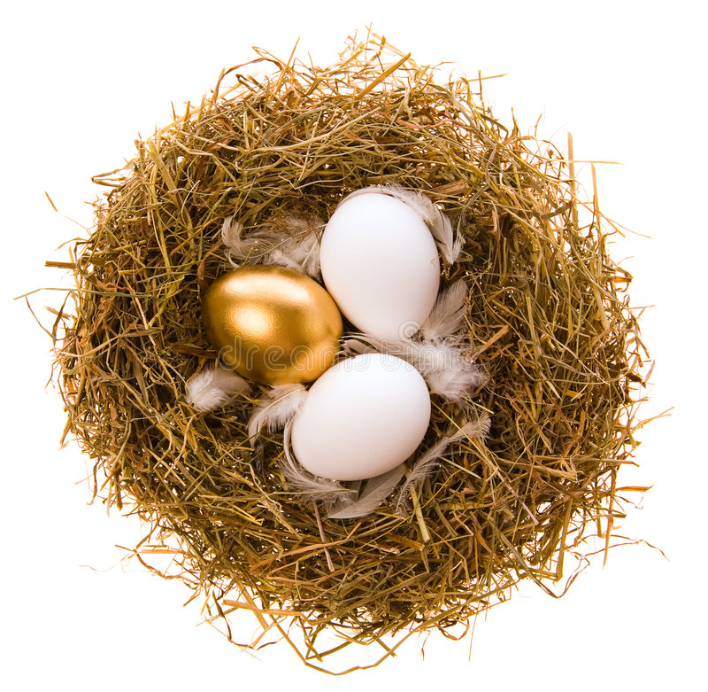 Ovo do ouro para o feriado de Easter fotos de stock royalty free