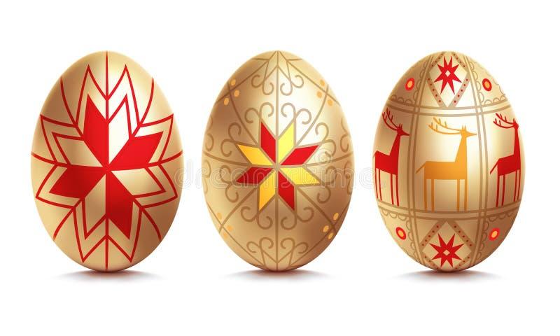 Ovo dourado de Easter ilustração royalty free