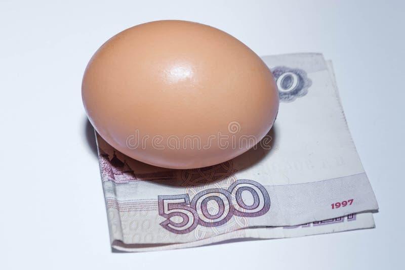 Ovo e dinheiro fotografia de stock
