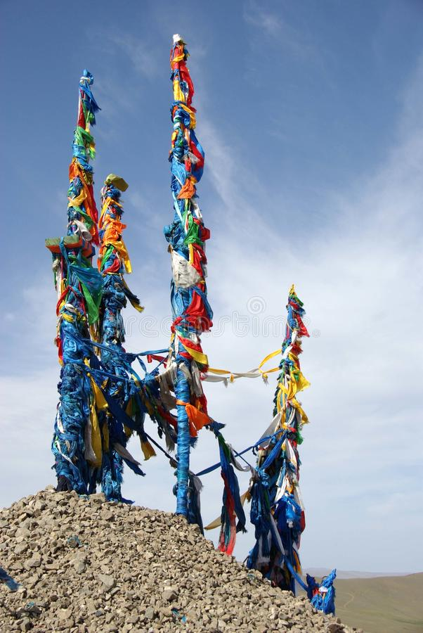 Download Ovoo in Mongolia stock image. Image of superstition, mongol - 16802333