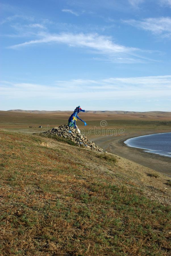 Download Ovoo in Mongolia stock photo. Image of steppe, mongolia - 18011734