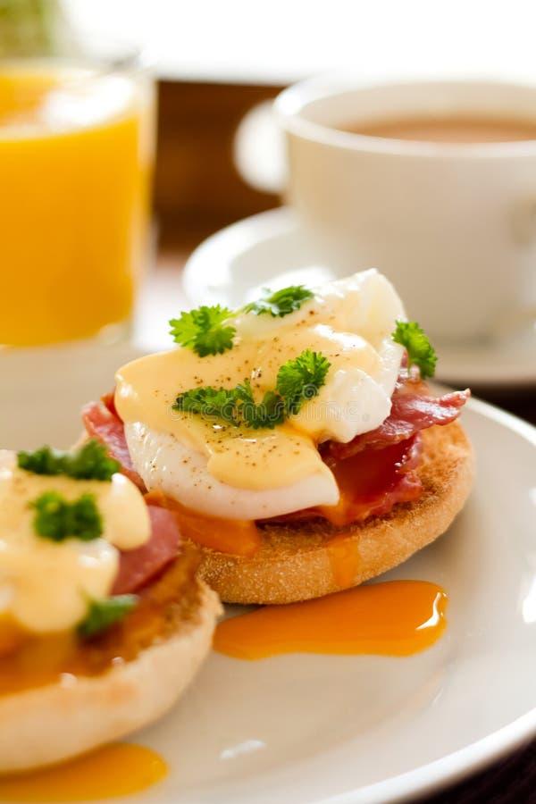 Ovos Benedict Breakfast fotografia de stock royalty free