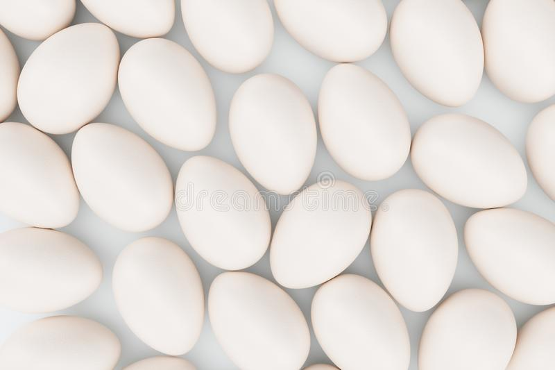 Ovos brancos Fundo dos ovos Páscoa feliz do conceito Ovos como um símbolo do feriado Fundo para o alimento saudável foto de stock royalty free