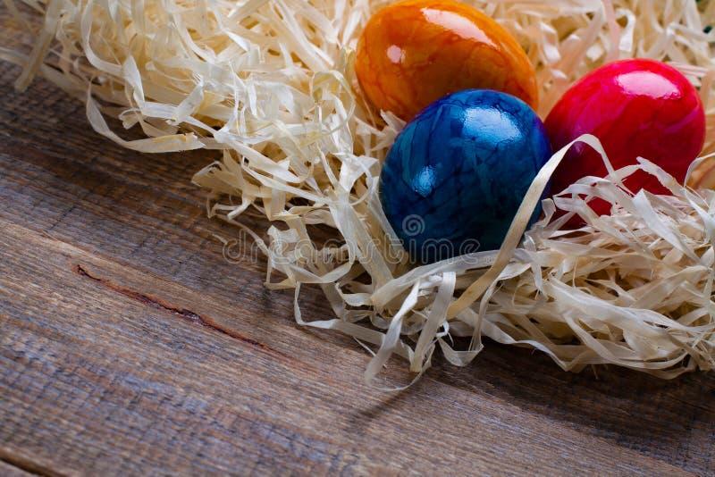 Ovos coloridos Páscoa imagens de stock royalty free