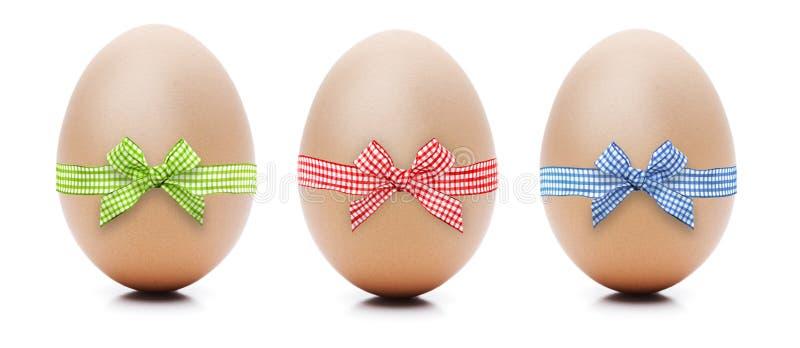 Ovos com laço imagem de stock royalty free