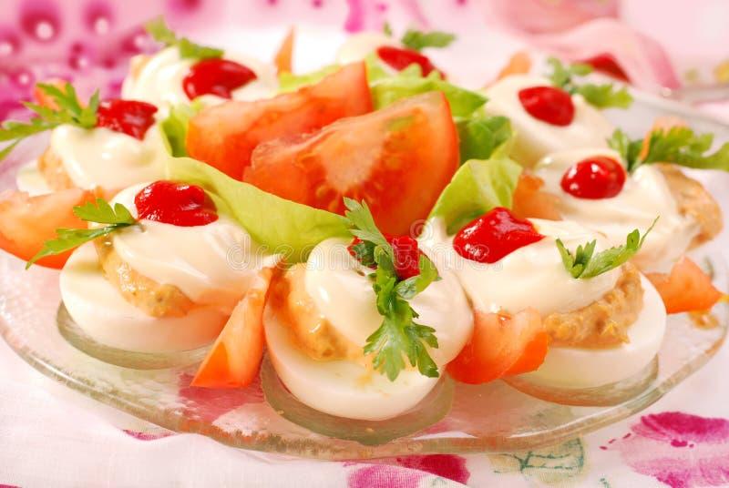 Ovos com maionese fotos de stock royalty free