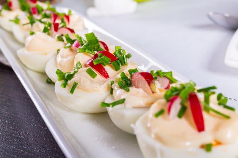 Ovos cozidos de Decoraited para a Páscoa fotografia de stock royalty free