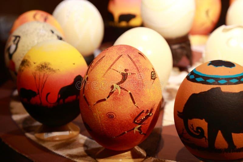 Ovos da avestruz fotografia de stock