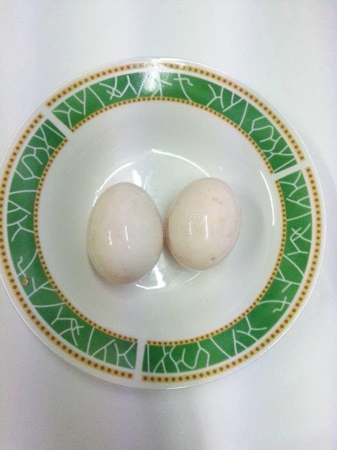 Ovos da bacia e do pato imagem de stock royalty free