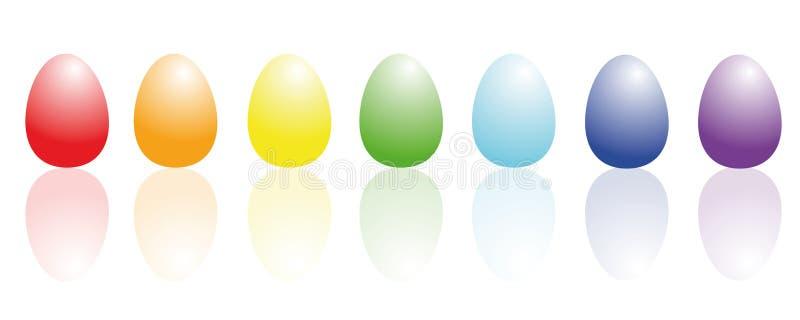 Ovos da páscoa coloridamente coloridos ilustração stock
