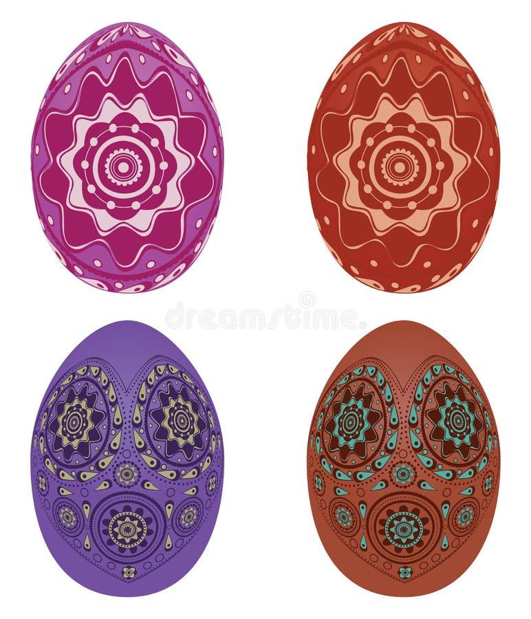 Ovos da páscoa coloridos ilustração do vetor