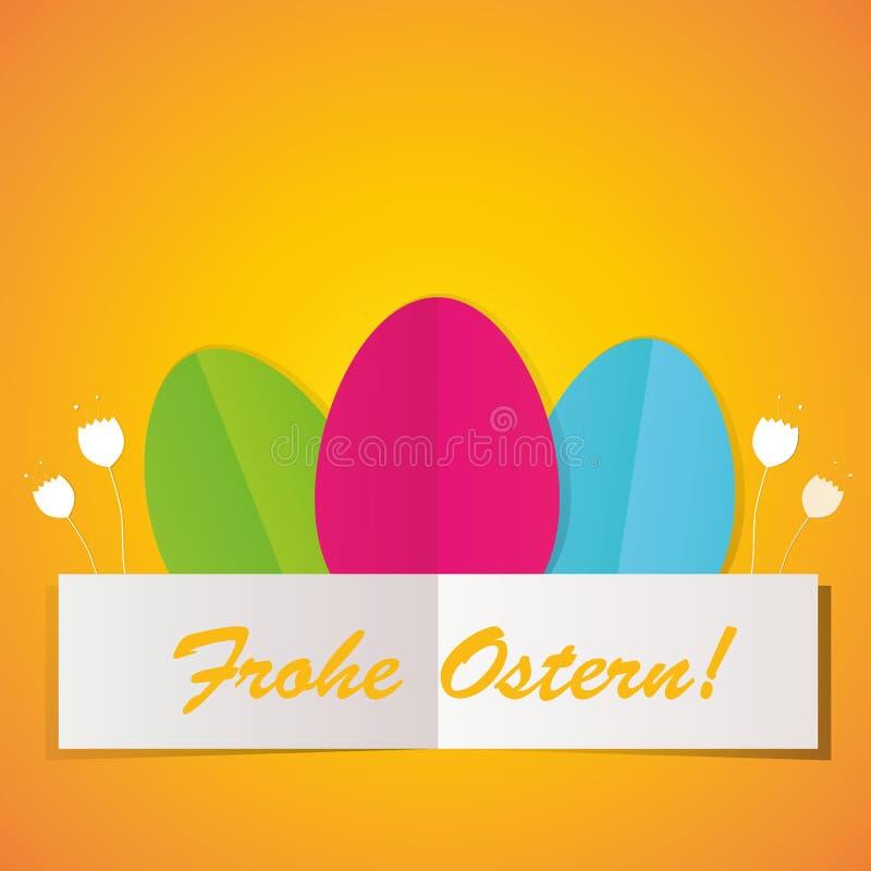 Ovos da páscoa coloridos ilustração stock
