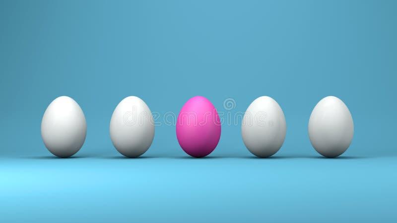Ovos da páscoa, conceito de projeto, ilustração 3d ilustração stock