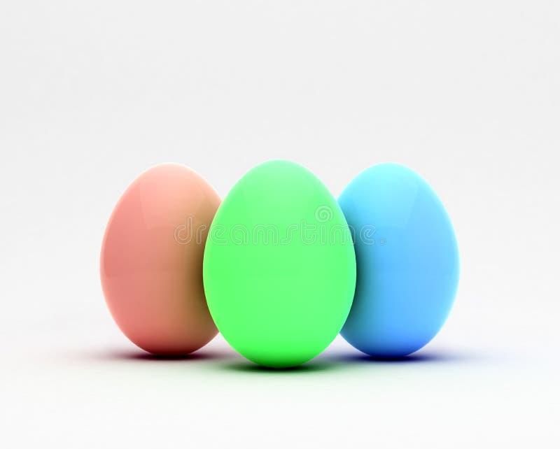 Ovos da páscoa, conceito de projeto na moda, ilustração 3d ilustração do vetor