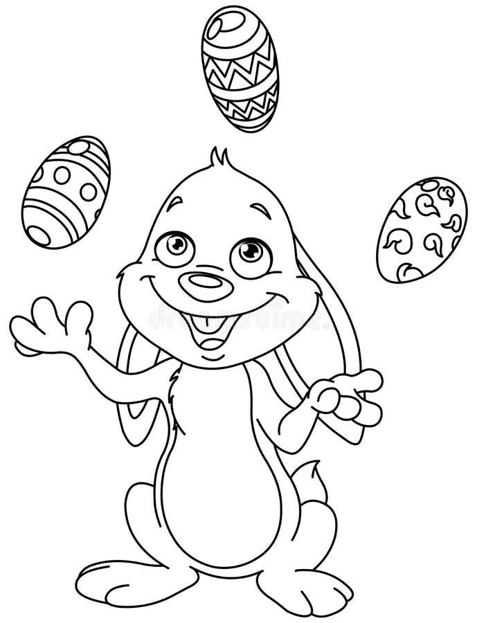 Ovos da páscoa de mnanipulação esboçados do coelho ilustração royalty free