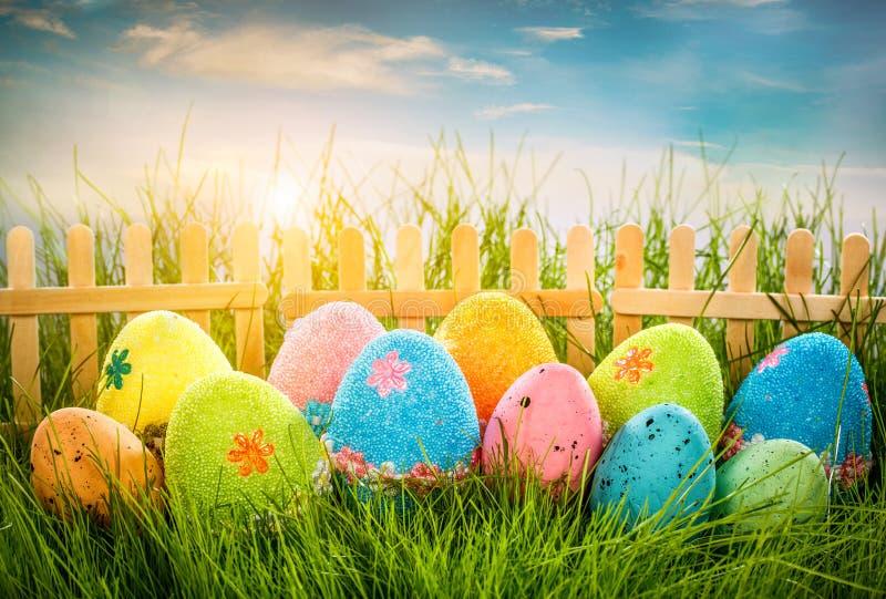 Ovos da páscoa decorados fotografia de stock