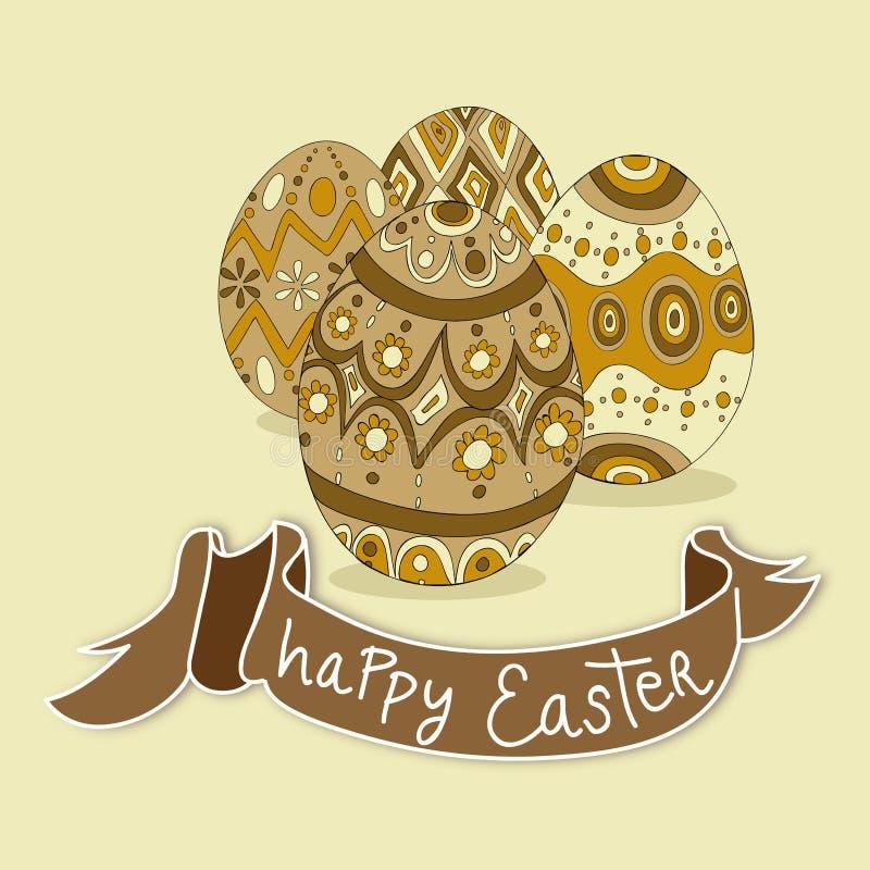 Ovos da páscoa felizes ilustração stock