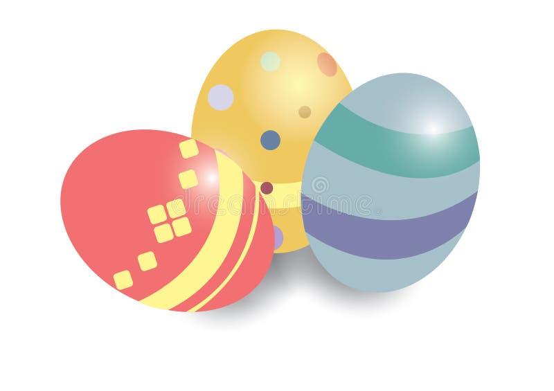 3 ovos da páscoa para ilustrações ilustração royalty free