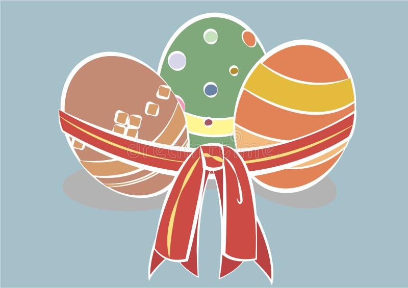3 ovos da páscoa para ilustrações ilustração stock